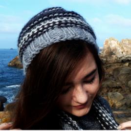 Bonnet bicolore gris