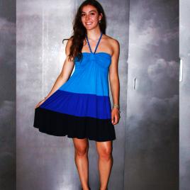 La robe bustier à volants