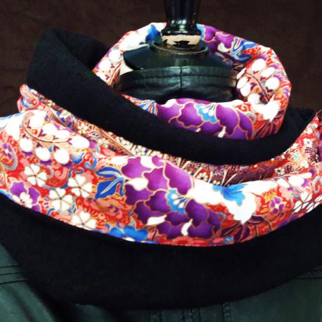 Tour de cou laine bouillie sarong