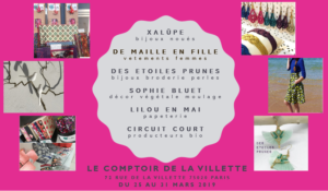 POP UP STORE COMPTOIR DE LA VILETTE