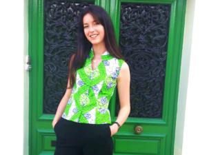 chemise en wax vert